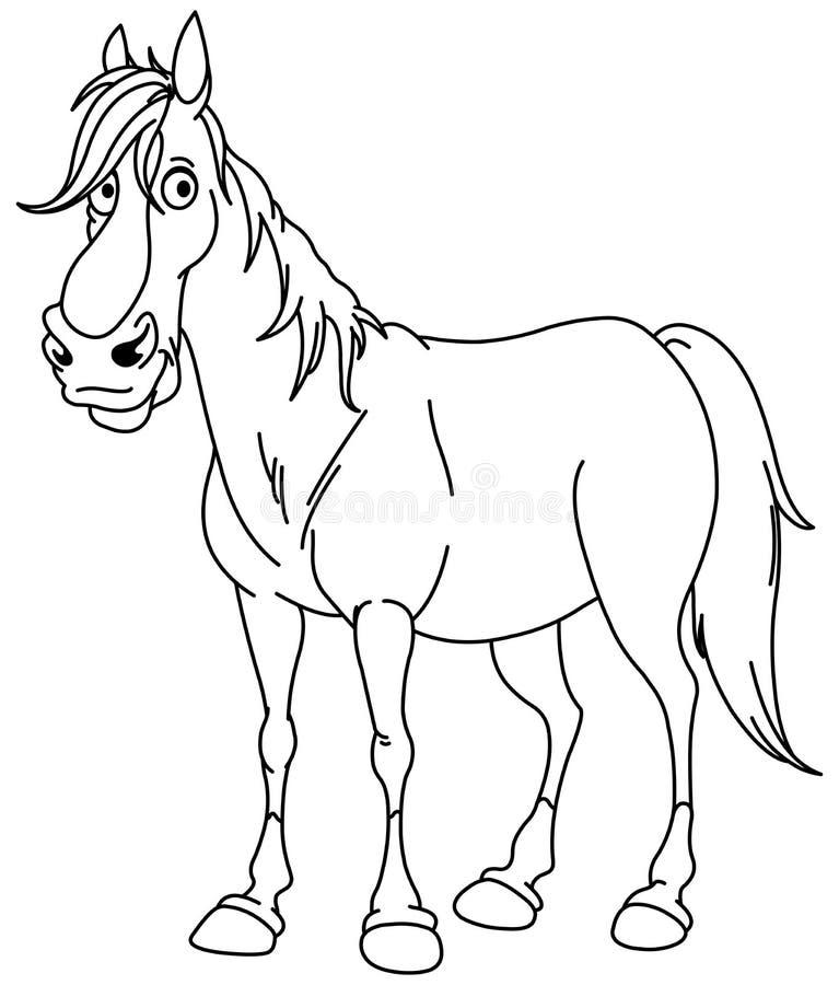 Περιγραμμένο άλογο στοκ φωτογραφία με δικαίωμα ελεύθερης χρήσης
