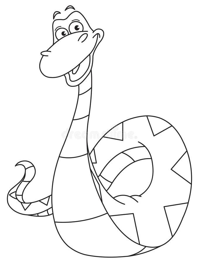 περιγραμμένο φίδι ελεύθερη απεικόνιση δικαιώματος
