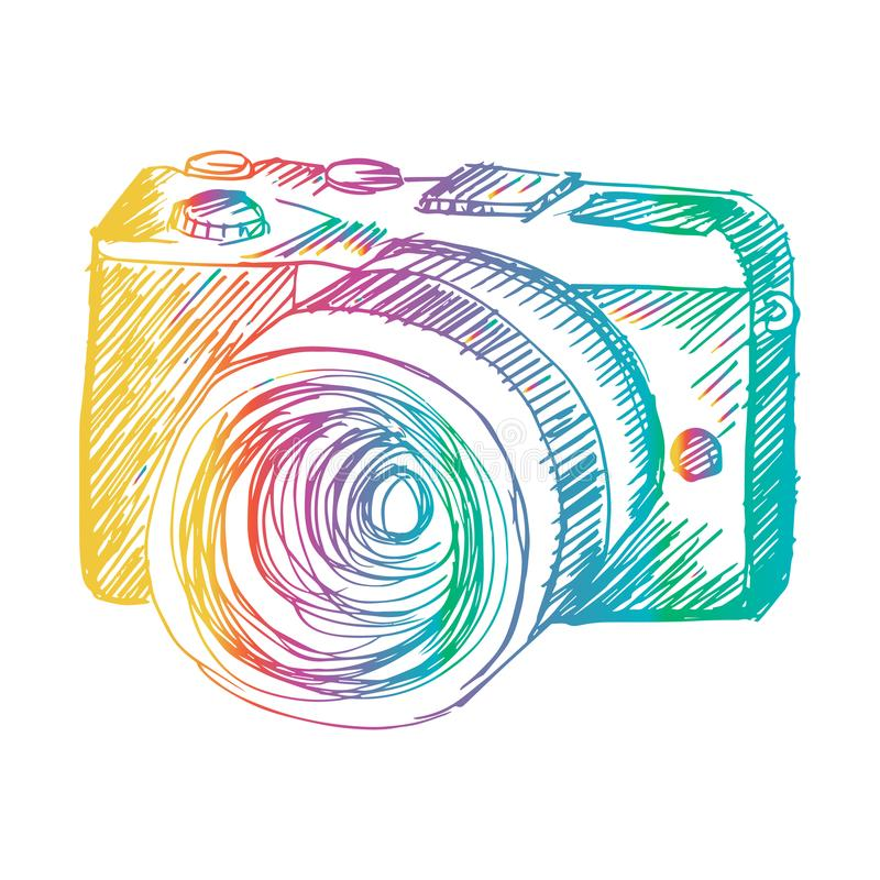 Περιγραμματικός της κάμερας Mirrorless διανυσματική απεικόνιση