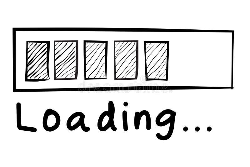 Περιγραμματικός του σημαδιού φόρτωσης που απομονώνεται στο λευκό απεικόνιση αποθεμάτων
