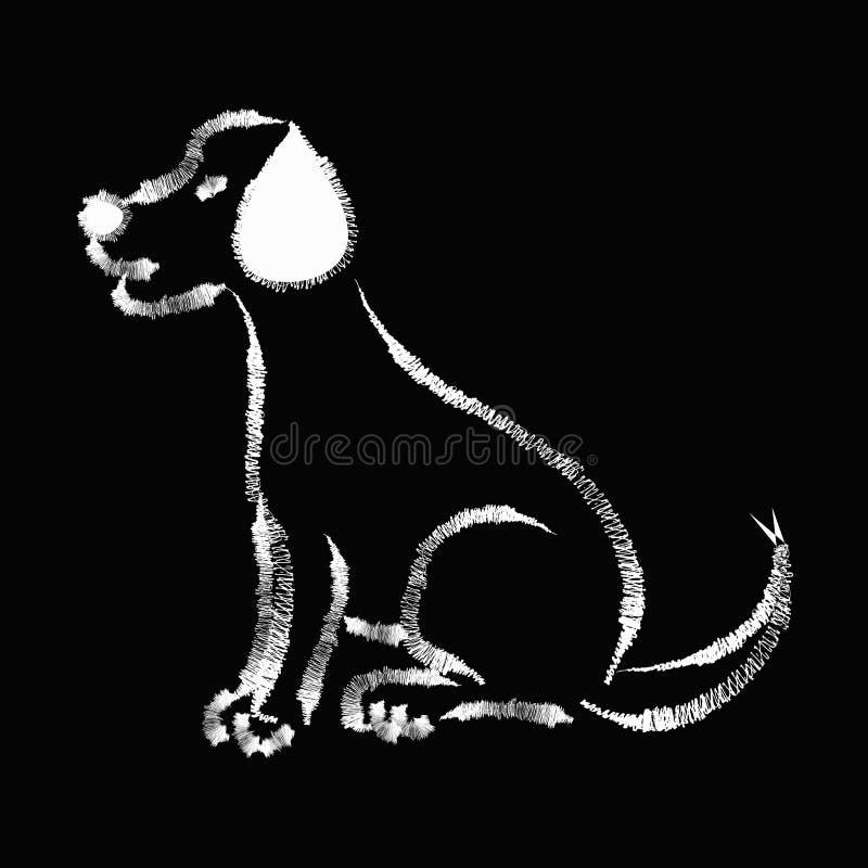 Περιγραμματικός του σκυλιού Λαμπραντόρ απεικόνιση αποθεμάτων