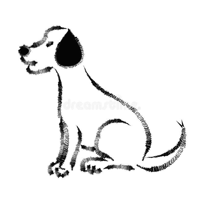 Περιγραμματικός του σκυλιού Λαμπραντόρ ελεύθερη απεικόνιση δικαιώματος