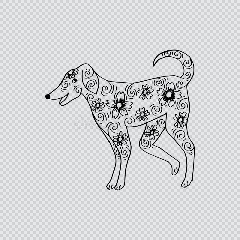 Περιγραμματικός του σκυλιού απεικόνιση αποθεμάτων