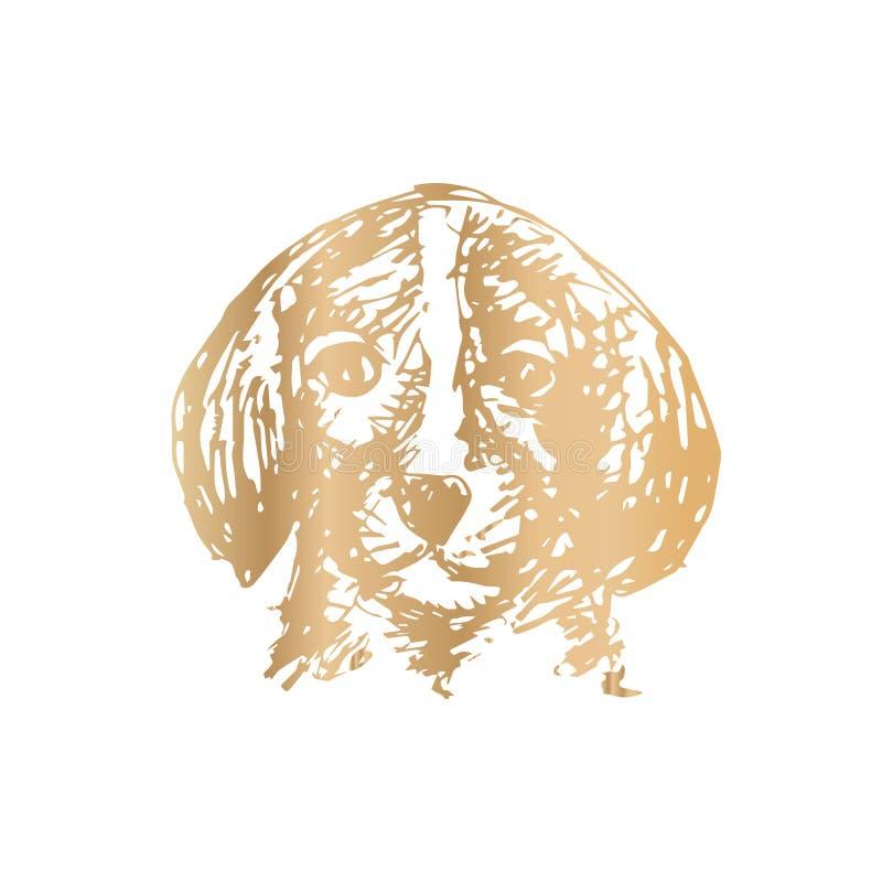 Περιγραμματικός του σκυλιού ελεύθερη απεικόνιση δικαιώματος