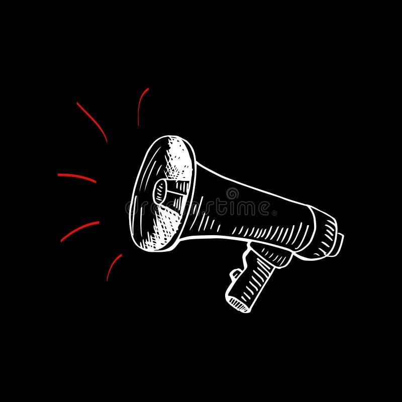 Περιγραμματικός megaphone ελεύθερη απεικόνιση δικαιώματος