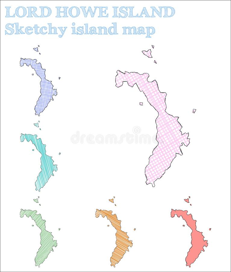 Περιγραμματικό νησί Λόρδου Howe Island ελεύθερη απεικόνιση δικαιώματος