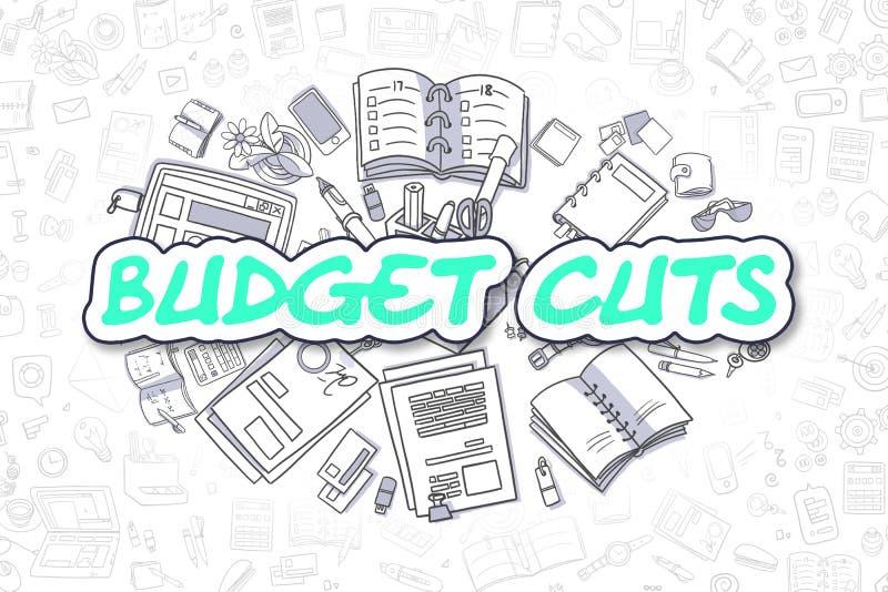 Περικοπές προϋπολογισμού - κινούμενα σχέδια το πράσινο Word χρυσή ιδιοκτησία βασικών πλήκτρων επιχειρησιακής έννοιας που φθάνει σ ελεύθερη απεικόνιση δικαιώματος
