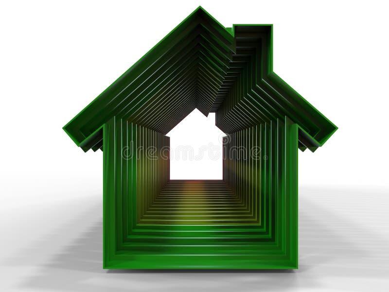 Περιλήψεις σπιτιών - ενεργειακή αποδοτικότητα απεικόνιση αποθεμάτων