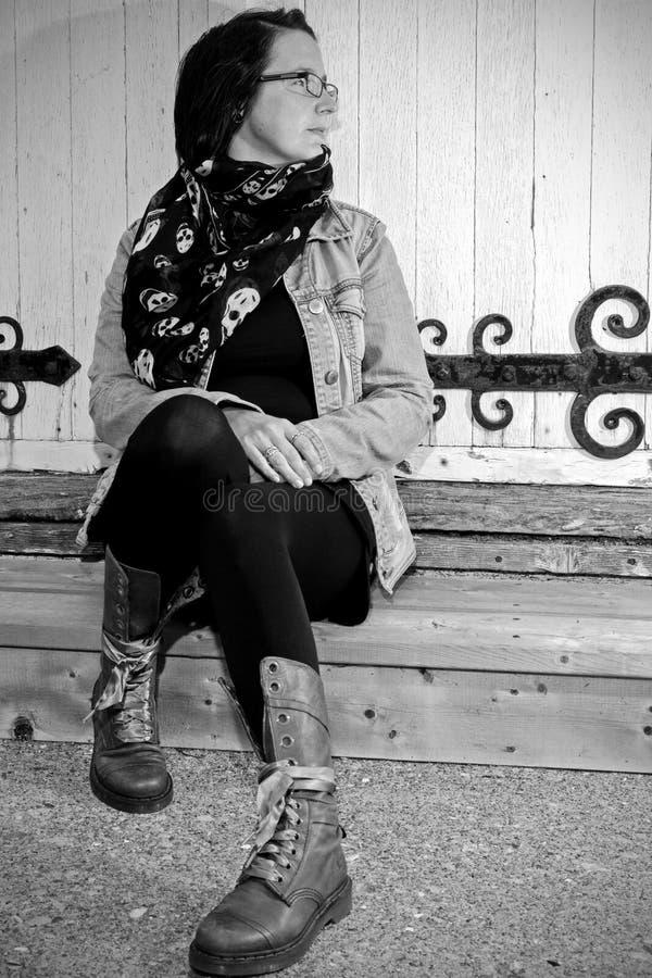 Περιμένοντας ταξιδιώτης στοκ φωτογραφία