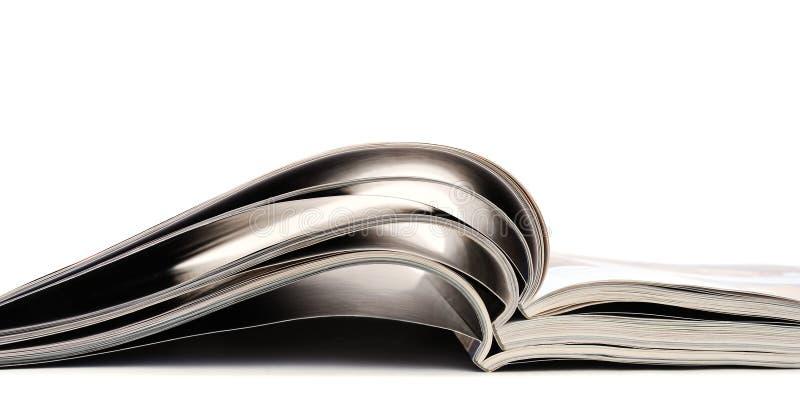 περιοδικά ανοικτά στοκ εικόνα με δικαίωμα ελεύθερης χρήσης