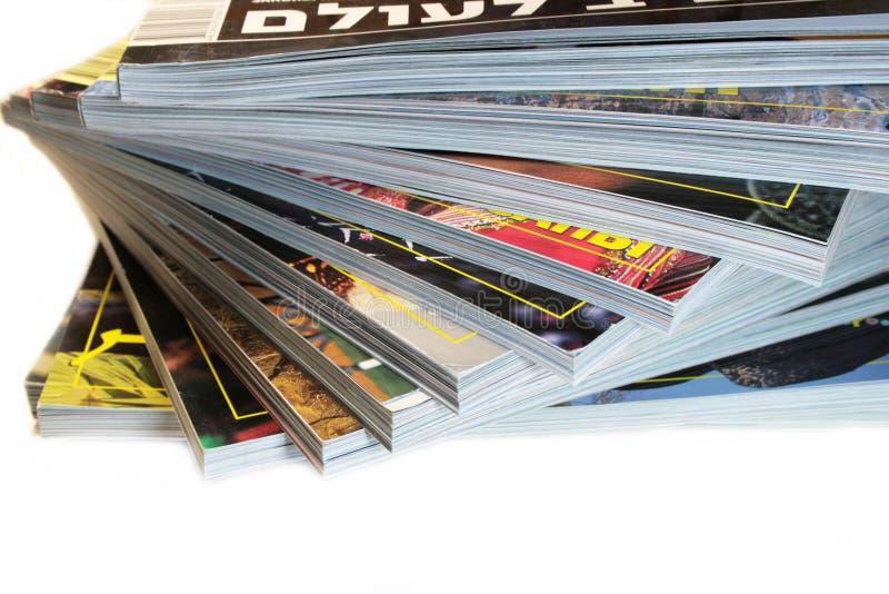 περιοδικά σωρών στοκ εικόνες