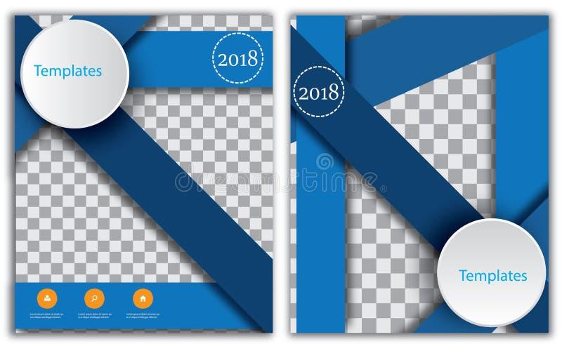 Περιοδικό επικεφαλίδων βιβλιάριων φυλλάδιων σχεδιαγράμματος σελίδων κάλυψης βιβλίων ετήσια εκθέσεων επιχειρησιακών προτύπων προτύ απεικόνιση αποθεμάτων