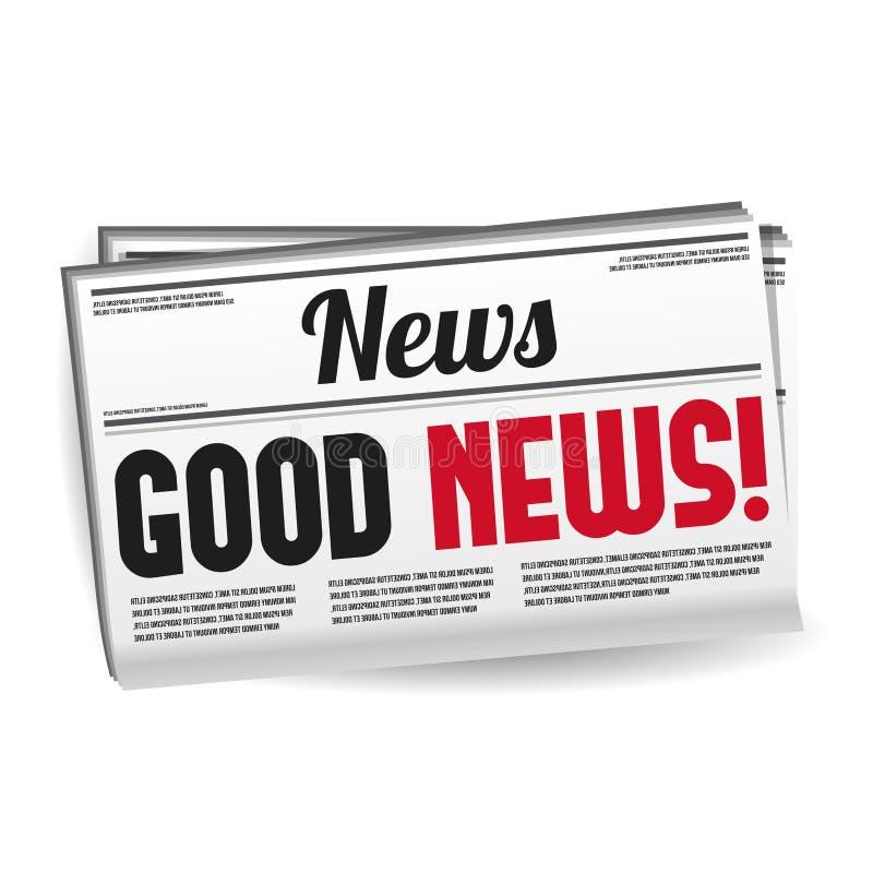 Περιοδικό εφημερίδων - καλές ειδήσεις Eps10 διάνυσμα απεικόνιση αποθεμάτων