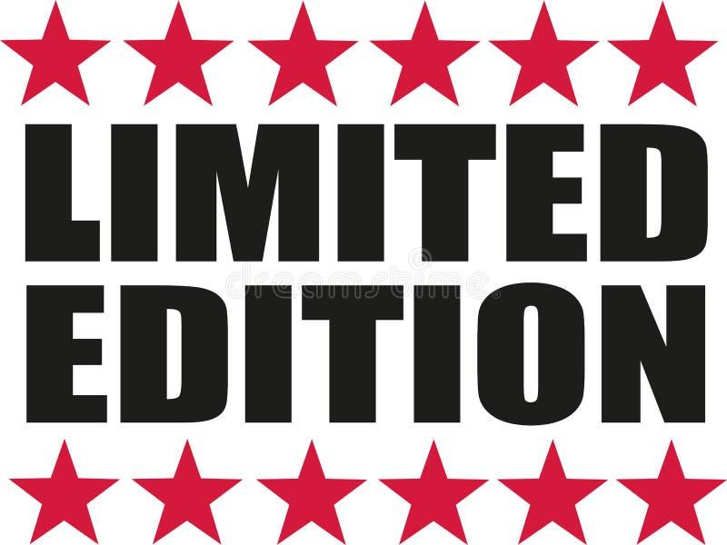 Περιορισμένη έκδοση με τα κόκκινα αστέρια ελεύθερη απεικόνιση δικαιώματος