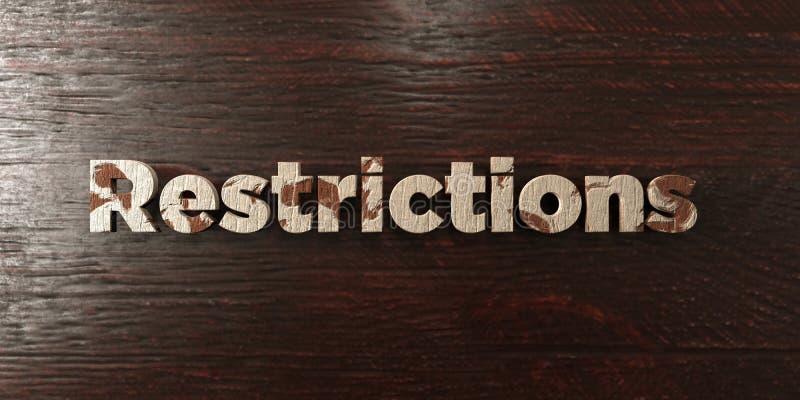 Περιορισμοί - βρώμικος ξύλινος τίτλος στο σφένδαμνο - τρισδιάστατο δικαίωμα ελεύθερη εικόνα αποθεμάτων ελεύθερη απεικόνιση δικαιώματος