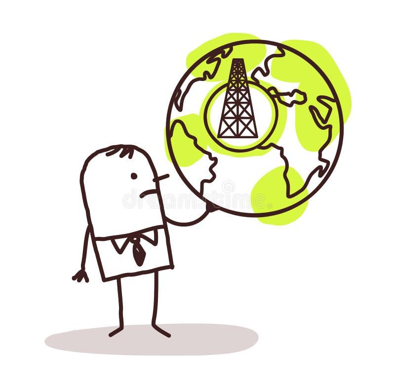 Περιοχές αερίου επιχειρηματιών & σχιστόλιθου ελεύθερη απεικόνιση δικαιώματος