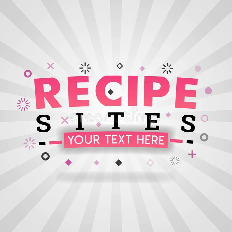 Περιοχές συνταγών για την κάλυψη εστιατορίων, τα τρόφιμα blog και cookbook τα συστατικά πληροφοριών απεικόνιση αποθεμάτων