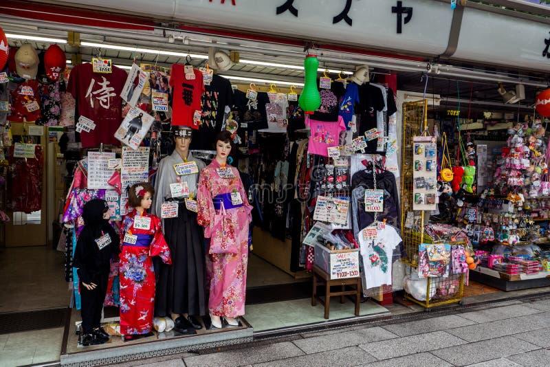 Περιοχή αγορών στο ναό ή Asakusa TempleTokyo, Ιαπωνία Sensoji 22 Σεπτεμβρίου 2018 στοκ εικόνα