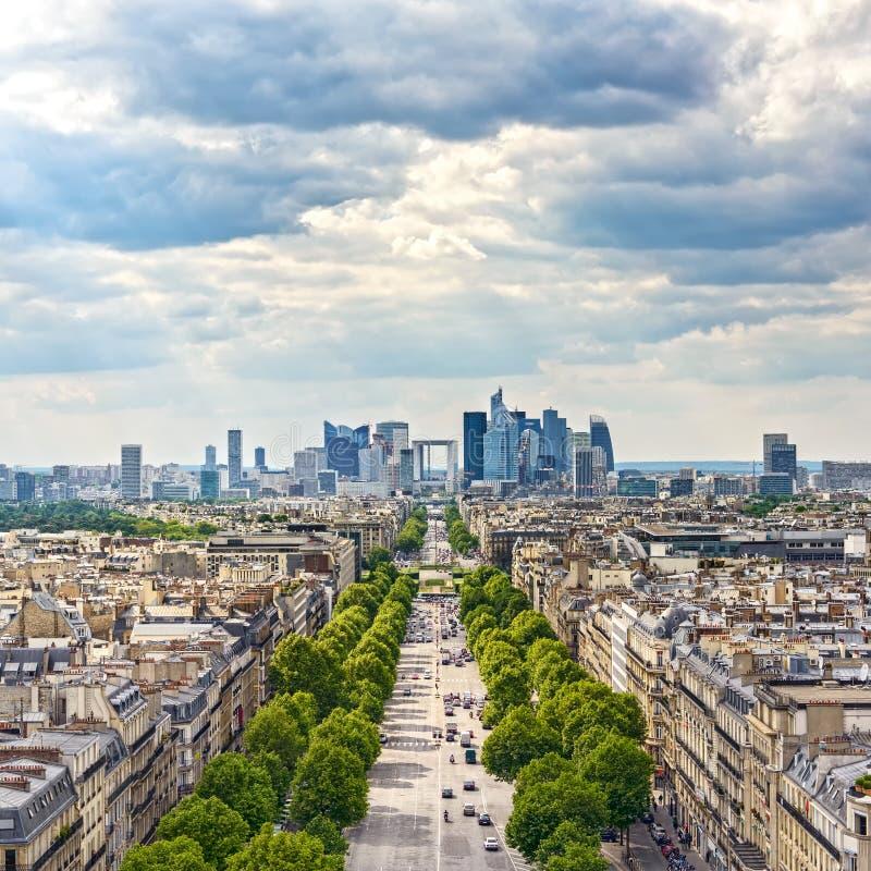 Περιοχή αμυντικών επιχειρήσεων Λα, λεωφόρος Grande Armee. Παρίσι, Γαλλία στοκ εικόνες