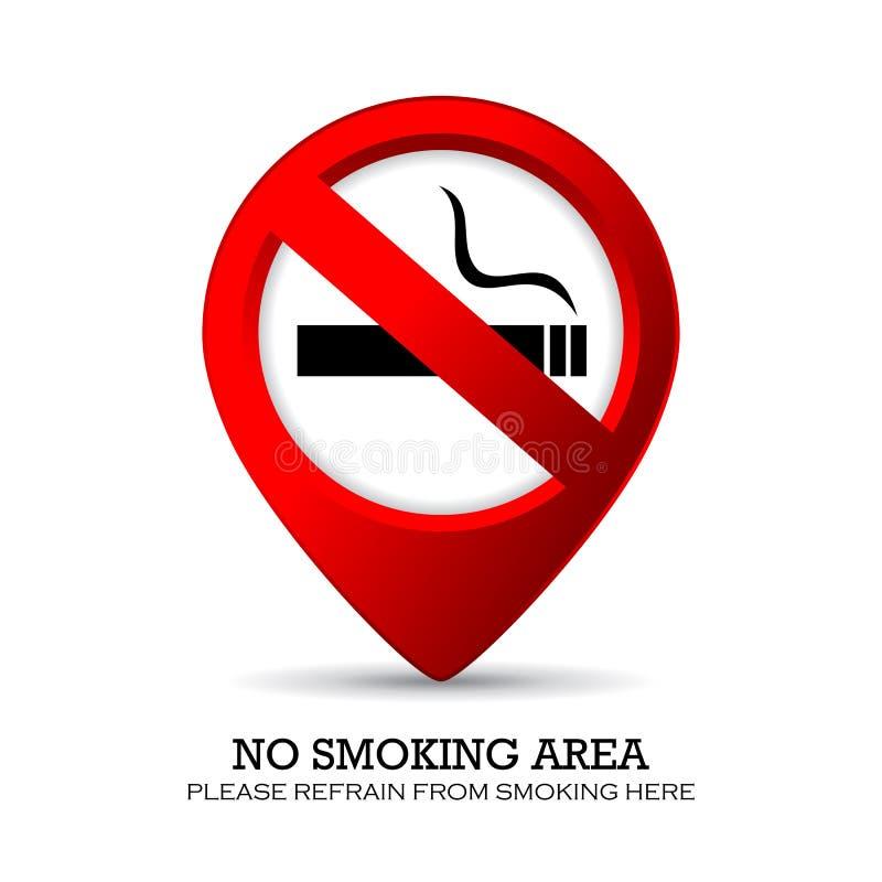 Περιοχή απαγόρευσης του καπνίσματος διανυσματική απεικόνιση