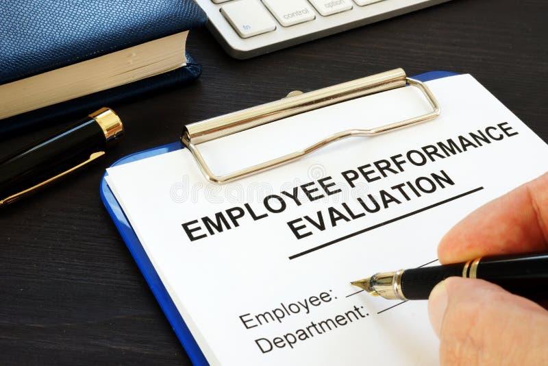 Περιοχή αποκομμάτων με την αξιολόγηση απόδοσης υπαλλήλων στοκ εικόνες με δικαίωμα ελεύθερης χρήσης