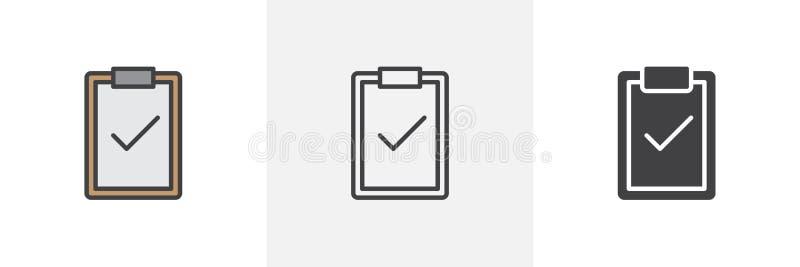 Περιοχή αποκομμάτων με το εικονίδιο σημαδιών ελέγχου απεικόνιση αποθεμάτων