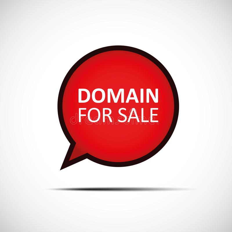 Περιοχή για την κόκκινη λεκτική φυσαλίδα πώλησης διανυσματική απεικόνιση