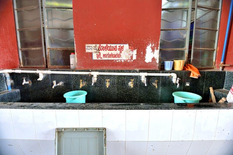 Περιοχή για την πλύση πριν από την εργασία στοκ εικόνα
