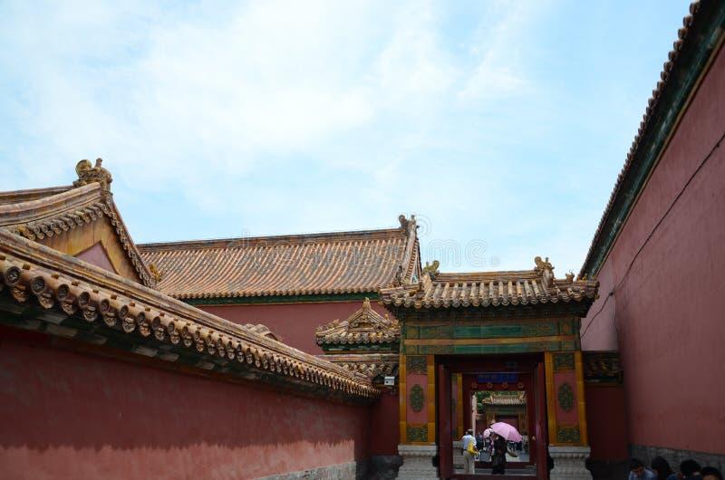 Περιοχή ιστορίας απαγορεύω-πόλεων της Κίνας Πεκίνο στοκ φωτογραφία