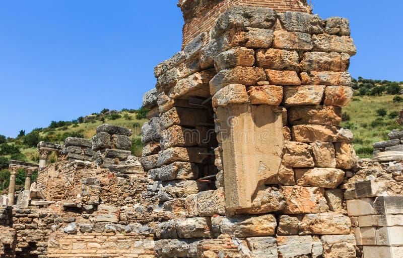 Περιοχή καταστροφών στην Τουρκία, παλαιός ναός Ephesus στοκ εικόνα με δικαίωμα ελεύθερης χρήσης