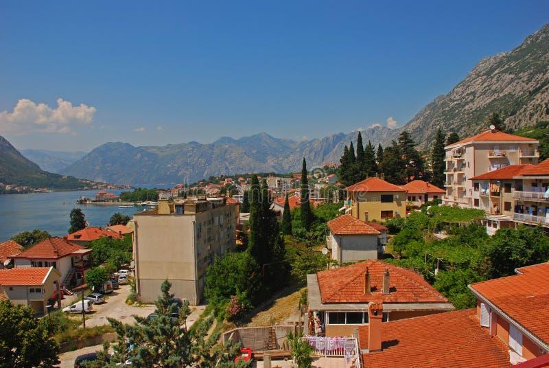 Περιοχή κατοικίας Kotor στοκ φωτογραφίες με δικαίωμα ελεύθερης χρήσης