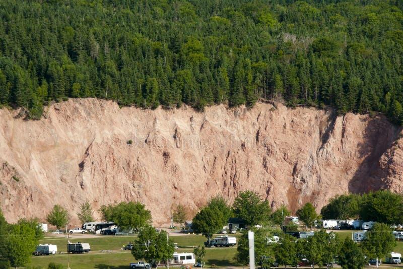 Περιοχή κινδύνου καθιζήσεων εδάφους στοκ εικόνα