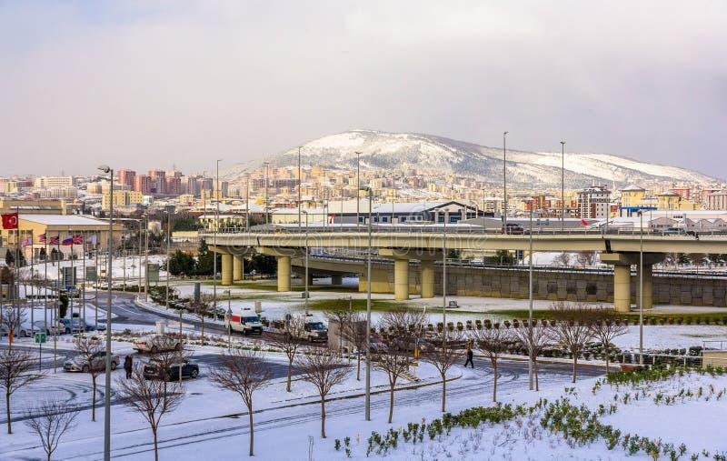 Περιοχή κοντά στο διεθνή αερολιμένα Sabiha Gokcen στη Ιστανμπούλ - Tukr στοκ εικόνες