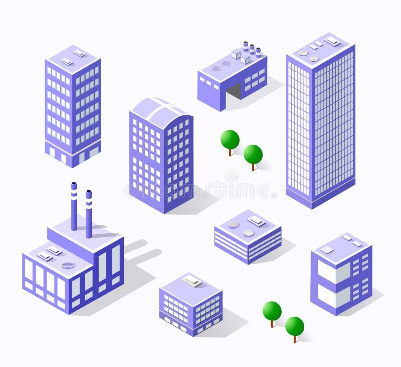 Περιοχή κωμοπόλεων της πόλης διανυσματική απεικόνιση