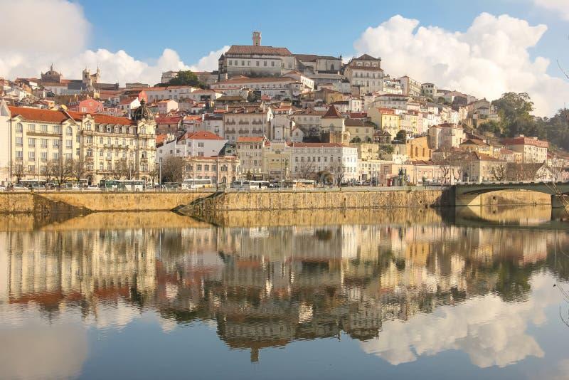 περιοχή Μόσχα μια πανοραμική όψη Κοΐμπρα Πορτογαλία στοκ εικόνες με δικαίωμα ελεύθερης χρήσης
