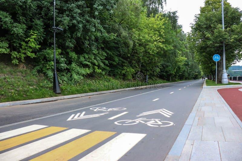 Περιοχή πάρκων με την πορεία ποδηλάτων στοκ φωτογραφίες
