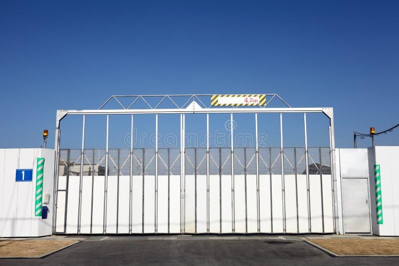 περιοχή πυλών κατασκευή&sig στοκ φωτογραφία με δικαίωμα ελεύθερης χρήσης