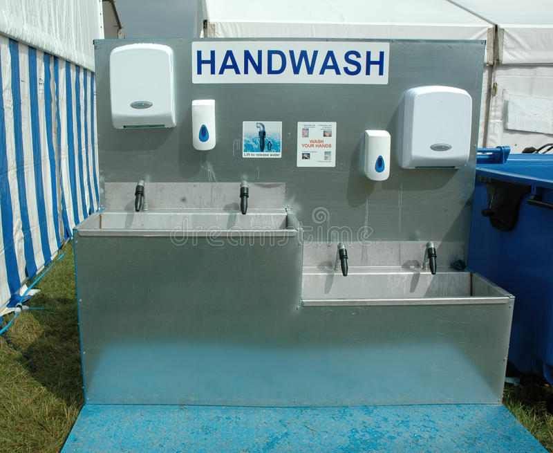 Περιοχή πλυσίματος χεριών στοκ φωτογραφία με δικαίωμα ελεύθερης χρήσης
