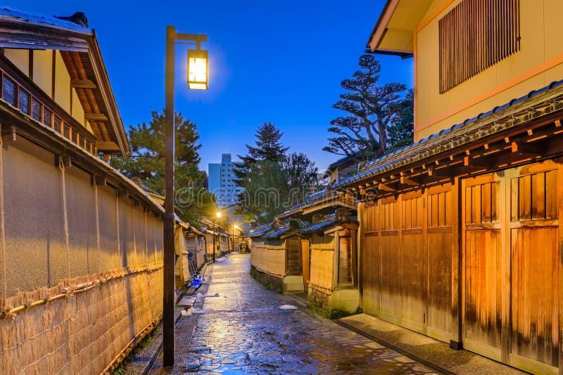 Περιοχή Σαμουράι Kanazawa, Ιαπωνία στοκ φωτογραφίες