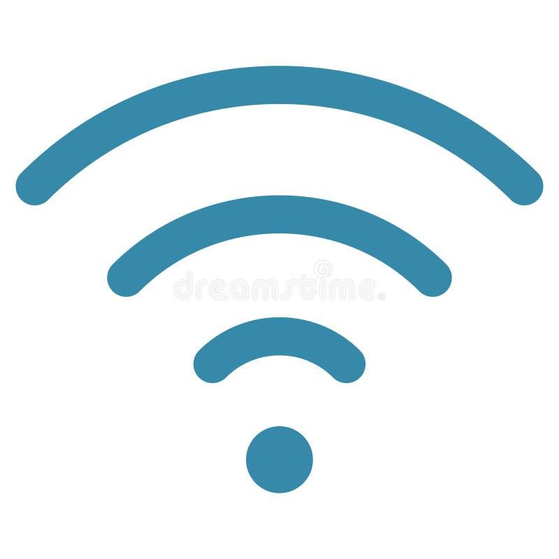 Περιοχή σημάτων wifi κυμάτων διανυσματική απεικόνιση