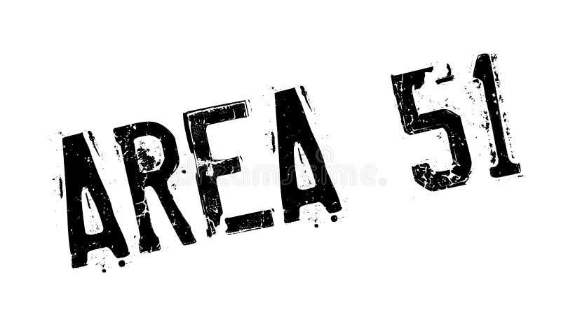 Περιοχή 51 σφραγίδα ελεύθερη απεικόνιση δικαιώματος