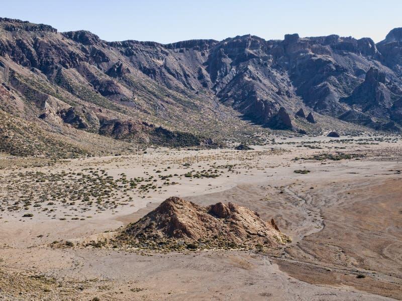 Περιοχή σχηματισμών βράχου στο φυσικό πάρκο Teide στοκ εικόνες