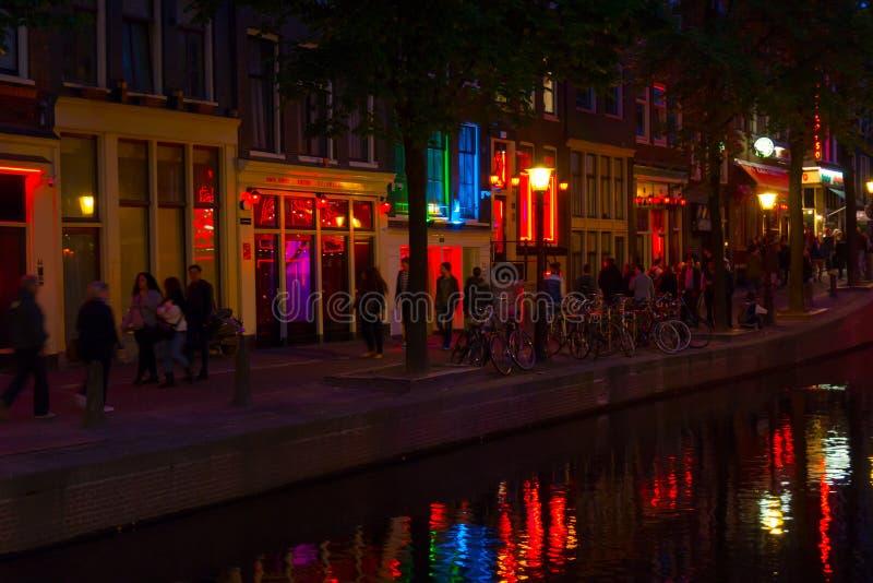 περιοχή του Άμστερνταμ ανοικτό κόκκινο στοκ φωτογραφία με δικαίωμα ελεύθερης χρήσης