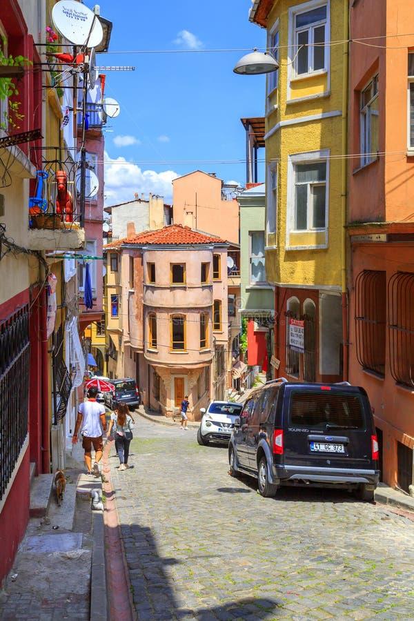 Περιοχή Balat, Ιστανμπούλ, Τουρκία στοκ εικόνα