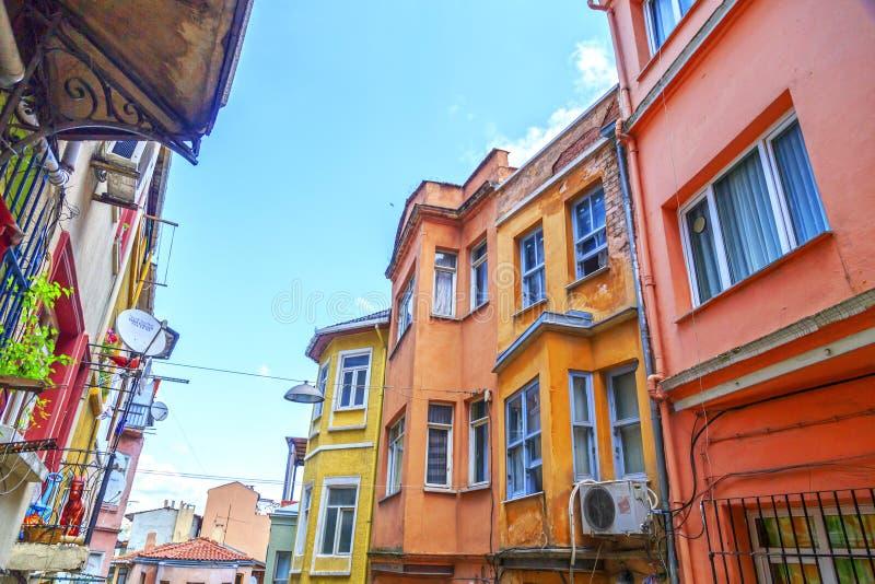 Περιοχή Balat, Ιστανμπούλ, Τουρκία στοκ εικόνες