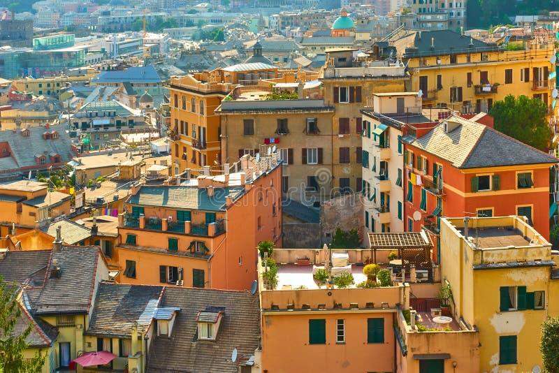 Περιοχή Castelletto σε Γένοβα στοκ φωτογραφία με δικαίωμα ελεύθερης χρήσης