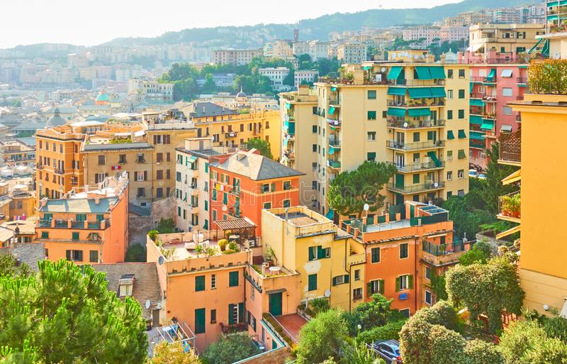 Περιοχή Castelletto στη Γένοβα στοκ φωτογραφία