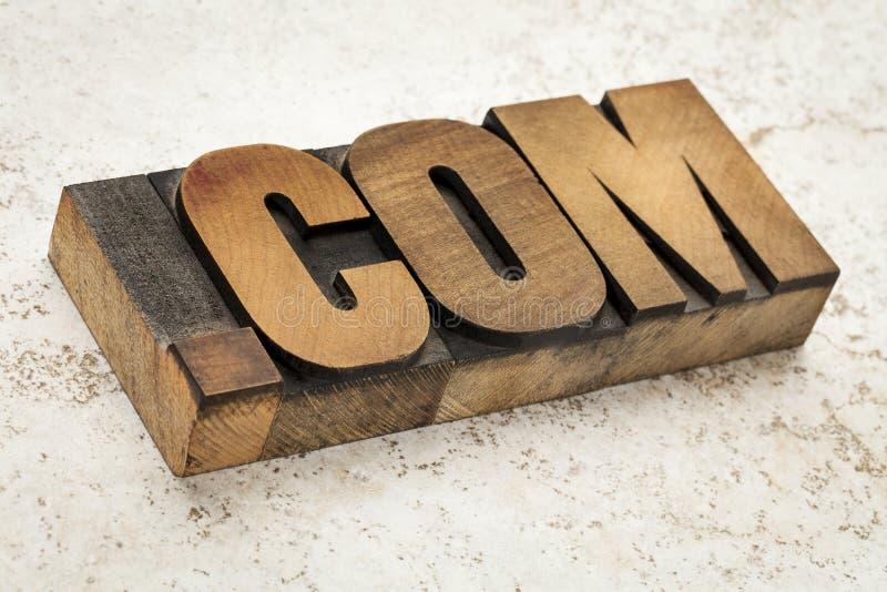 Περιοχή COM Διαδίκτυο σημείων στοκ εικόνες με δικαίωμα ελεύθερης χρήσης