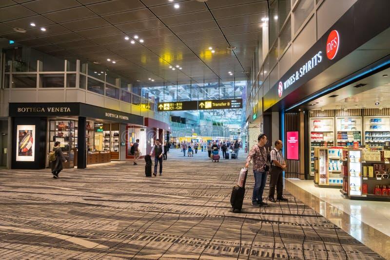 Περιοχή duty free αγορών αερολιμένων της Σιγκαπούρης Changi στοκ εικόνες