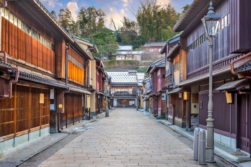 Περιοχή Higashichaya Kanazawa, Ιαπωνία στοκ φωτογραφίες με δικαίωμα ελεύθερης χρήσης